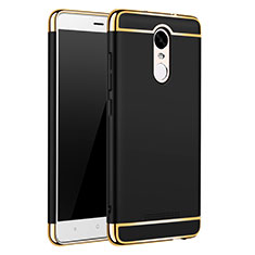 Coque Bumper Luxe Metal et Plastique Etui Housse M01 pour Xiaomi Redmi Note 3 MediaTek Noir