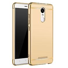 Coque Bumper Luxe Metal et Plastique Etui Housse M01 pour Xiaomi Redmi Note 3 MediaTek Or