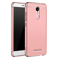 Coque Bumper Luxe Metal et Plastique Etui Housse M01 pour Xiaomi Redmi Note 3 MediaTek Or Rose