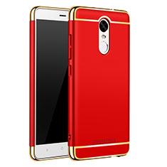 Coque Bumper Luxe Metal et Plastique Etui Housse M01 pour Xiaomi Redmi Note 3 MediaTek Rouge