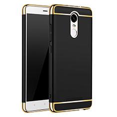 Coque Bumper Luxe Metal et Plastique Etui Housse M01 pour Xiaomi Redmi Note 3 Pro Noir