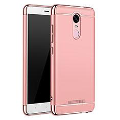 Coque Bumper Luxe Metal et Plastique Etui Housse M01 pour Xiaomi Redmi Note 3 Pro Or Rose