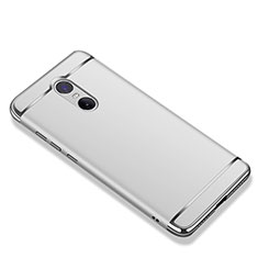 Coque Bumper Luxe Metal et Plastique Etui Housse M01 pour Xiaomi Redmi Note 4X High Edition Argent