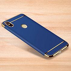 Coque Bumper Luxe Metal et Plastique Etui Housse M01 pour Xiaomi Redmi Note 6 Pro Bleu