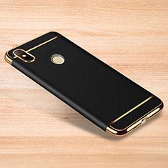 Coque Bumper Luxe Metal et Plastique Etui Housse M01 pour Xiaomi Redmi Note 6 Pro Noir