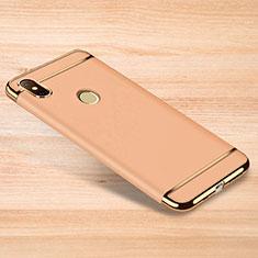 Coque Bumper Luxe Metal et Plastique Etui Housse M01 pour Xiaomi Redmi Note 6 Pro Or