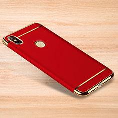 Coque Bumper Luxe Metal et Plastique Etui Housse M01 pour Xiaomi Redmi Note 6 Pro Rouge