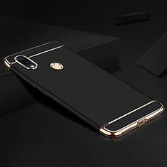 Coque Bumper Luxe Metal et Plastique Etui Housse M01 pour Xiaomi Redmi Note 7 Noir