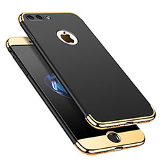 Coque Bumper Luxe Metal et Plastique Etui Housse M02 pour Apple iPhone 7 Plus Noir