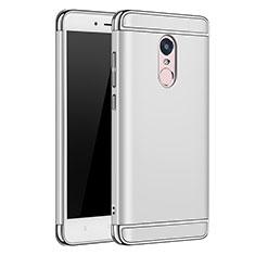 Coque Bumper Luxe Metal et Plastique Etui Housse M02 pour Xiaomi Redmi Note 4 Argent