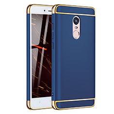 Coque Bumper Luxe Metal et Plastique Etui Housse M02 pour Xiaomi Redmi Note 4 Bleu