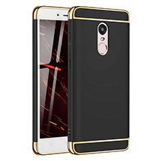 Coque Bumper Luxe Metal et Plastique Etui Housse M02 pour Xiaomi Redmi Note 4X High Edition Noir