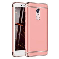 Coque Bumper Luxe Metal et Plastique Etui Housse M02 pour Xiaomi Redmi Note 4X High Edition Or Rose