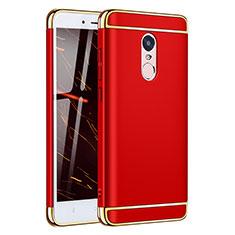 Coque Bumper Luxe Metal et Plastique Etui Housse M02 pour Xiaomi Redmi Note 4X High Edition Rouge