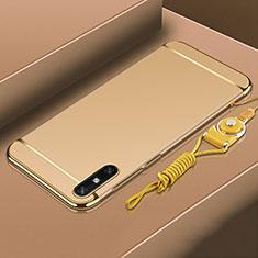 Coque Bumper Luxe Metal et Plastique Etui Housse M03 pour Huawei Enjoy 10e Or