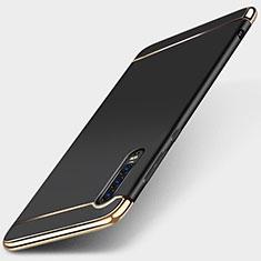 Coque Bumper Luxe Metal et Plastique Etui Housse M03 pour Huawei P30 Noir
