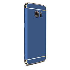 Coque Bumper Luxe Metal et Plastique Etui Housse M05 pour Samsung Galaxy S7 Edge G935F Bleu