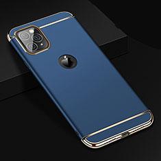 Coque Bumper Luxe Metal et Plastique Etui Housse T01 pour Apple iPhone 11 Pro Max Bleu