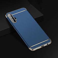 Coque Bumper Luxe Metal et Plastique Etui Housse T01 pour Huawei Honor 20 Pro Bleu