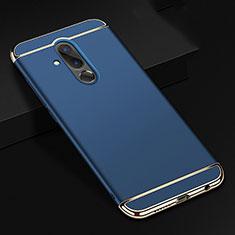 Coque Bumper Luxe Metal et Plastique Etui Housse T01 pour Huawei Mate 20 Lite Bleu