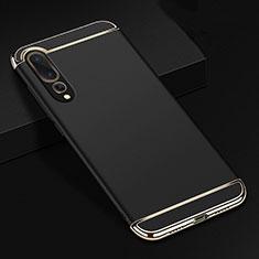 Coque Bumper Luxe Metal et Plastique Etui Housse T01 pour Huawei P20 Pro Noir
