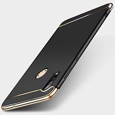 Coque Bumper Luxe Metal et Plastique Etui Housse T01 pour Huawei P30 Lite Noir