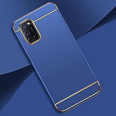 Coque Bumper Luxe Metal et Plastique Etui Housse T01 pour Oppo A92 Bleu