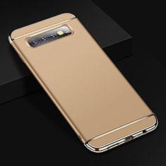 Coque Bumper Luxe Metal et Plastique Etui Housse T01 pour Samsung Galaxy S10 Plus Or