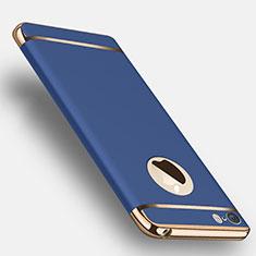 Coque Bumper Luxe Metal et Plastique F02 pour Apple iPhone SE Bleu
