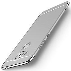 Coque Bumper Luxe Metal et Plastique M01 pour Huawei G9 Plus Argent