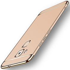 Coque Bumper Luxe Metal et Plastique M01 pour Huawei G9 Plus Or