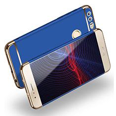 Coque Bumper Luxe Metal et Plastique M01 pour Huawei Honor 8 Bleu