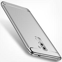 Coque Bumper Luxe Metal et Plastique M02 pour Huawei Honor 6X Argent