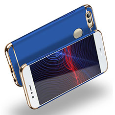 Coque Bumper Luxe Metal et Plastique M02 pour Huawei Nova 2 Plus Bleu