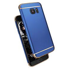 Coque Bumper Luxe Metal et Plastique M02 pour Samsung Galaxy S7 Edge G935F Bleu