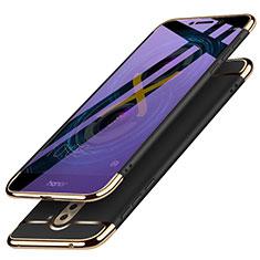 Coque Bumper Luxe Metal et Plastique M03 pour Huawei Honor 6X Pro Noir