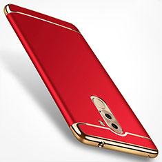 Coque Bumper Luxe Metal et Plastique pour Huawei Honor 6A Rouge