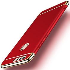 Coque Bumper Luxe Metal et Plastique pour Huawei Honor 8 Rouge