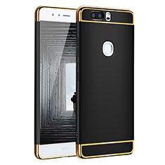 Coque Bumper Luxe Metal et Plastique pour Huawei Honor V8 Noir