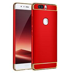 Coque Bumper Luxe Metal et Plastique pour Huawei Honor V8 Rouge
