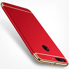Coque Bumper Luxe Metal et Plastique pour Huawei Honor V9 Rouge
