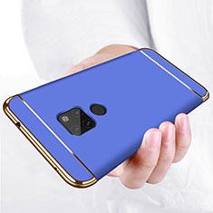 Coque Bumper Luxe Metal et Plastique pour Huawei Mate 20 Bleu