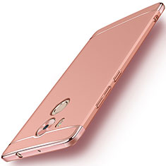 Coque Bumper Luxe Metal et Plastique pour Huawei Mate 8 Or Rose