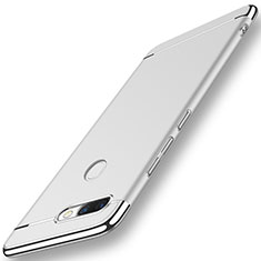 Coque Bumper Luxe Metal et Plastique pour Huawei Nova 2 Plus Argent