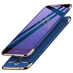 Coque Bumper Luxe Metal et Plastique pour Huawei Y7 Prime Bleu