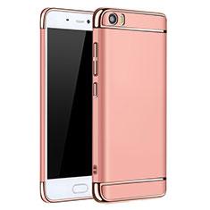 Coque Bumper Luxe Metal et Plastique pour Xiaomi Mi 5 Or Rose