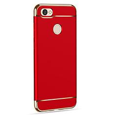 Coque Bumper Luxe Metal et Plastique pour Xiaomi Redmi Note 5A Prime Rouge