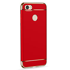Coque Bumper Luxe Metal et Plastique pour Xiaomi Redmi Note 5A Pro Rouge