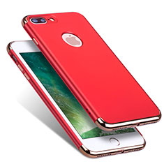 Coque Bumper Luxe Metal et Plastique R01 pour Apple iPhone 7 Plus Rouge