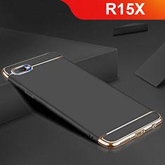 Coque Bumper Luxe Metal et Silicone Etui Housse M02 pour Oppo R15X Noir